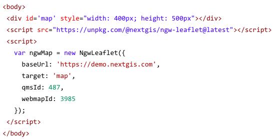 Rapid Web GIS apps development using NextGIS frontend